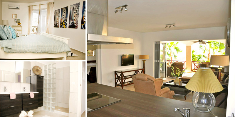 Luxurious and spacious ground floor apartment for rent in Residence Le Bleu Curacao.