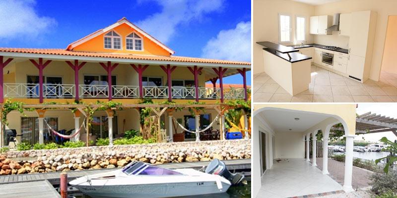 Stijlvolle & ruime waterfront appartement te koop op Terrasse A La Mer, Jan Thiel Curacao.