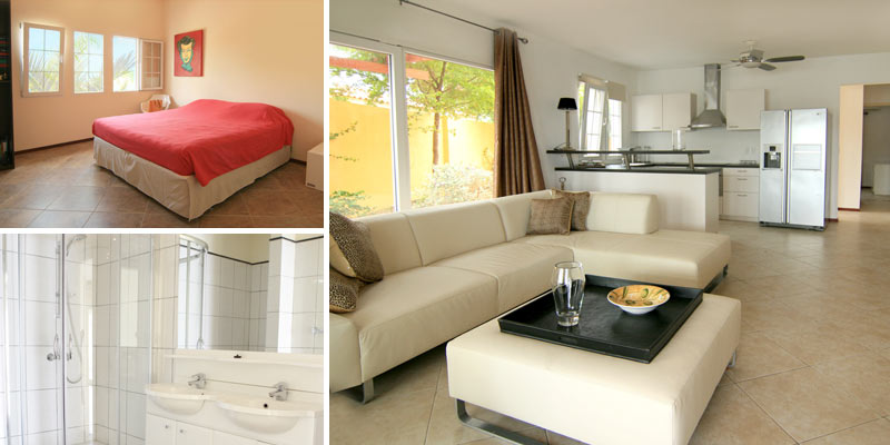 Stylish and spacious waterfront apartment for rent in Terrasse A La Mer, Jan Thiel Curacao