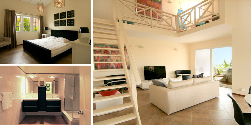 Stylish and spacious waterfront penthouse for sale in Terrasse A La Mer , Jan Thiel Curacao