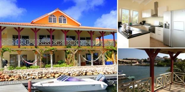 Ruime, stijlville waterfront penthouse te koop op Terrasse A La Mer, Jan Thiel Curacao